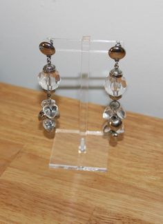 Retro Lucite Long Hanging Earrings Pierced Ears by TreasuresFromUs