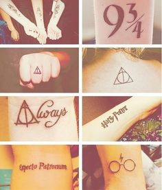Oh Harry Potter tattoos <3