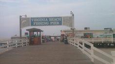 Seasonal 24 hour fishing at the Virginia Beach oceanfront fishing pier. Virginia Beach Houses, Virginia Beach Vacation, Virginia Beach Oceanfront, Beach Houses For Rent, Dream Vacations, Vacation Spots, Virgina Beach, Hampton Virginia, Virginia History