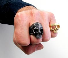 Sterling Silver LOVE LIFE Skull Ring hand made in by lorgjewels