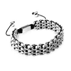Silver Kismet Links Bracelet - Black