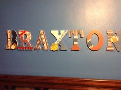 Decorative letters for the baby's room.