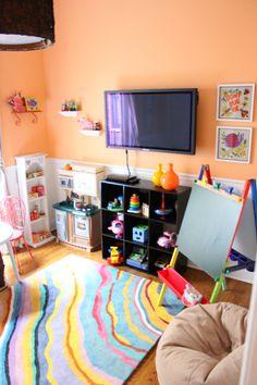 Land of Nod Tectonic Rug on Design Improvised's Playroom Reveal.