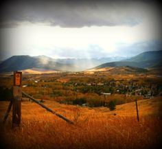 A fall afternoon looking over Red Lodge, Montana. Photo by Erin Thormahlen