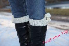 ruffle boot cuffs by Twistyourtop on Etsy, $23.00