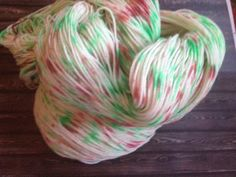 Party popper christmas sock yarn by CuppycakeYarnz on Etsy, $25.00