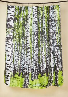 As You Enter Your Bathroom Each Morning, Your Toes Sink Into Your Fluffy  Rug Like Soft Grass, And This Birch Tree Shower Curtain Greets ...