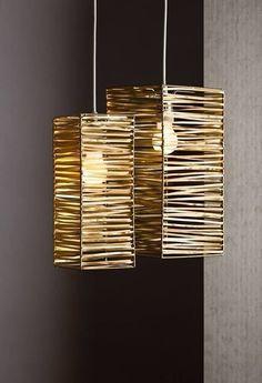 DIY Bamboo lampshades design and ideas .- DIY Bambus Lampenschirme Design und Ideen DIY bamboo lampshades design and ideas - Diy Home Crafts, Diy Home Decor, Diy Para A Casa, Diy Luminaire, Lampshade Designs, Bamboo Crafts, Creation Deco, Room Lamp, Wooden Lamp