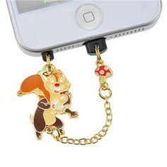 Chip and Dale Phone Plug Japan Disney Store