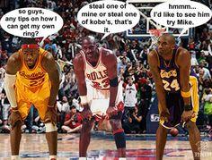 Kobe Bryant, Michael Jordan & LeBron James - Funny Pictures - Funny Photos - Funny Images - Funny Pics