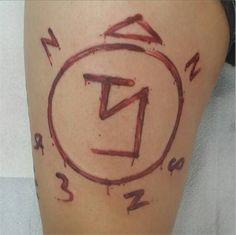 Images of Enochian Tattoo Castiel - #SpaceHero
