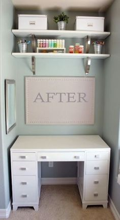 Dont have room for an office in your home Transform a closet