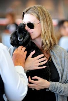 Grey's Anatomy-Ellen Pompeo with her poodle