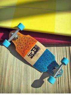 Hand Built MINI Longboard/ Skateboard CALIFORNIA by hannahBboards, $125.00