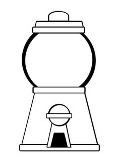 Print Out Gumball Machine Coloring Page For Kids Coloring Pages