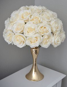 PEACH BLUSH Rose Arrangement. Half Flower Ball Pomander.
