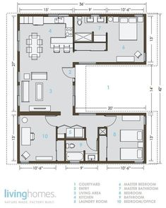 Container House LivingHomes and Make It Right Introduce Affordable Green Prefab : TreeHugger Who Else Wants Simple Step-By-Step Plans To Design And Build A Container Home From Scratch? Building A Container Home, Storage Container Homes, Container House Design, Storage Containers, Prefab Container Homes, Container Cabin, Small House Plans, House Floor Plans, Tiny Home Floor Plans