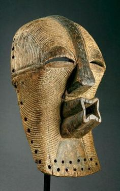 Africa | Kifuébé mask from the Songye people of the DR Congo | Wood, pigment by lea