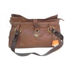 Large sienna brown soft leather handbag good quality