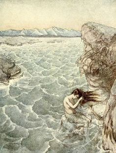 Arthur Rackham. This is what I feel like in the afternoon when it's humid & I'm melting...