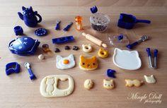 "so-many-minis: "" Epoch Gashapon Neco Cat Blue 2 by Mingle Doll """