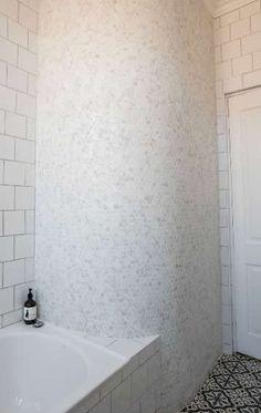 Simple Marble Hex Tile Bathroom  Bathrooms  Pinterest  Marbles Extraordinary Mosaic Feature Tiles Bathroom Design Ideas