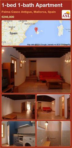 1-bed 1-bath Apartment in Palma Casco Antiguo, Mallorca, Spain ►€246,000 #PropertyForSaleInSpain