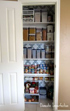 Organized pantry ideas · Kitchen StoragePantry ... & The Less Mess Project: Pantry Reveal! | Pinterest | Pantry Pantry ...