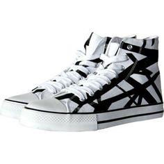 VAN HALEN White/Black Combo 1200 High Top Shoes  #vanhalen #white/black #rockabilia #licensedmerchandise #merchandise #merch #footwear #shoes #sandals #socks #slides