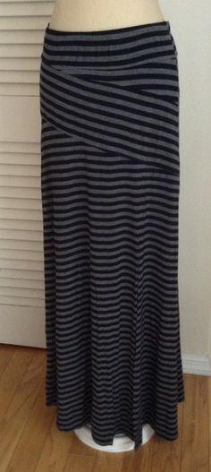 Mystree Mixed Stripe Maxi Skirt