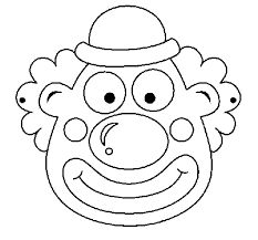 Image result for printable clown face coloring page