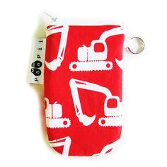 PaaPii Design - Kännykkäpussi Kaivurit, punainen