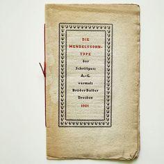 Mendelssohn Type by G. Mendelssohn for Schriftguss, 1921