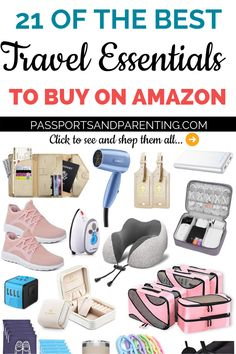 Be prepared when packing your carry on for your next trip or vacation (International, road trip, cruise, for kids or wherever), in a budget friendly way. Here are 21 of the best travel essentials to… Carry On Essentials, Travel Essentials For Women, Travel Necessities, Travel Toiletries, Amazon Essentials, Airplane Essentials, Travel Photographie, Best Travel Gifts, Best Travel Backpack