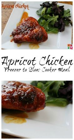 Apricot Chicken Recipe - Freezer to Slow Cooker Meal on Having Fun Saving and Cooking.  Using your slow cooker is a great way to make those busy nights a LOT easier.  Just add your ingredients into the slow cooker in the morning and be ready to enjoy a delicious meal with your family come dinner time.