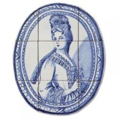 1309 Portuguese cut-out panel tile from Portugal