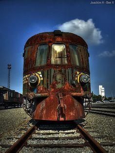 Decaying train engine
