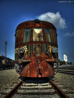 Decaying train engine