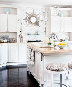 Suzie: Style at Home - Irene Langlois - Sweet kitchen with white kitchen cabinets & kitchen ...