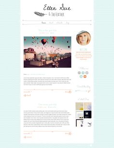Ellen Sue - Cute WordPress Theme - Blog - 1