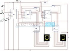 Circuit Diagram of Digital Stop Watch Counter