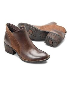 Look at this #zulilyfind! Brown Pourri Leather Bootie - Women #zulilyfinds