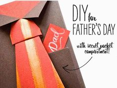 DIY for Fathers Day (Bowtie + Necktie Gift Wrap)