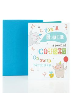 Cousin birthday card birthday card with roses an cousin birthday cousin bears balloons ms m4hsunfo