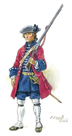 Swiss Karrer Regiment (France), 1750's.