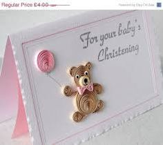 Image result for paper quilling baby cards