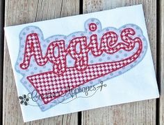 Aggies Double Vintage Stitch Applique - 6 Sizes! | Sport Teams | Machine Embroidery Designs | SWAKembroidery.com Creative Appliques