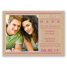 Modern Love Stats Photo - Save the Date Postcard