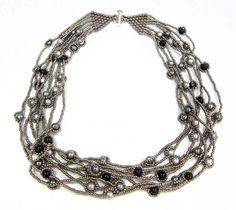 River of Pearls Necklace - Jill Wiseman Brick Stitch ~ Seed Bead Tutorials