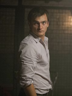 """Rupert Friend as Peter Quinn on Homeland...CIA, """"the guy that kills bad guys."""" So hot in a bad boy way. I'm hoping for a relationship with Carrie now that Brody's gone."""
